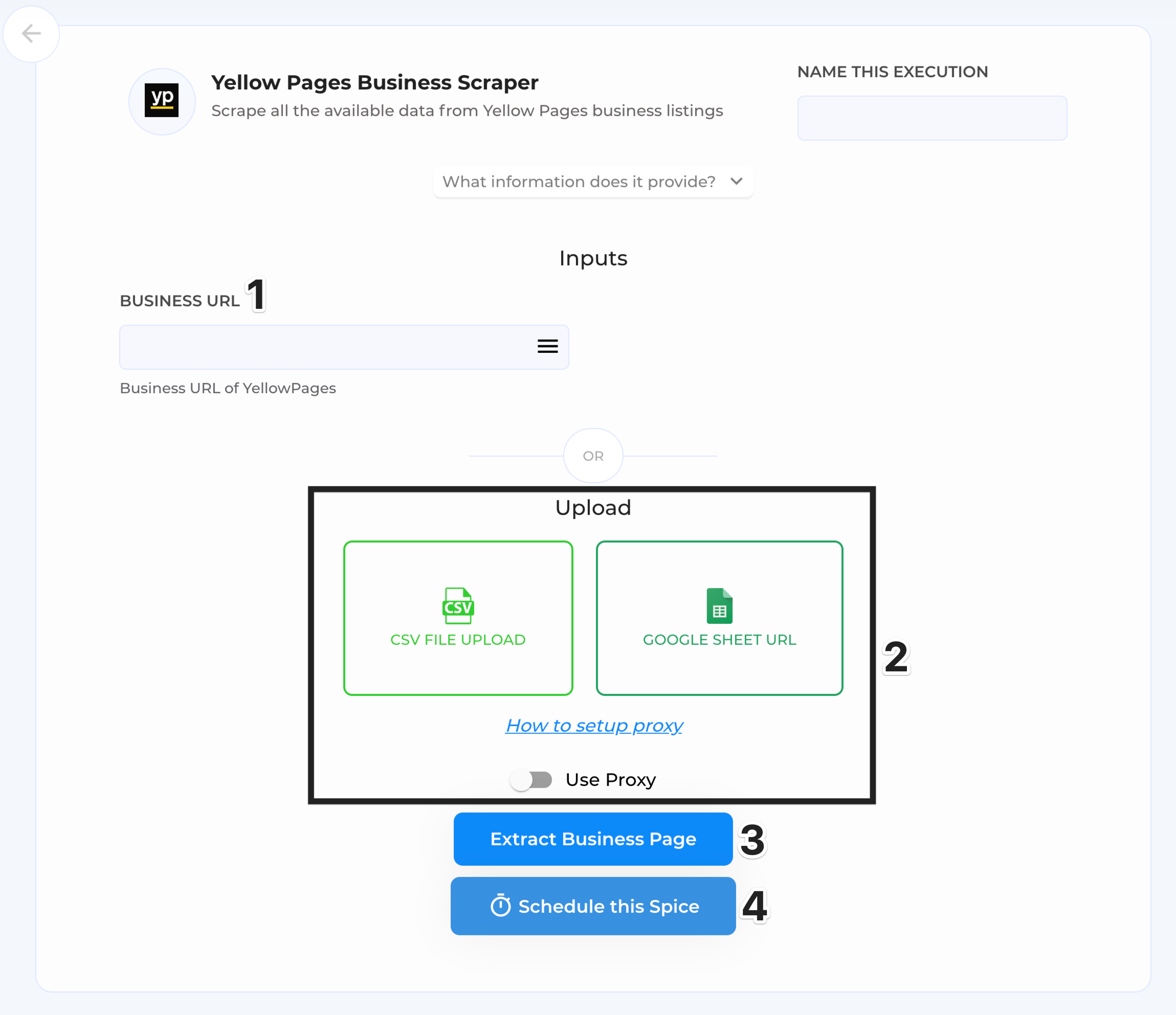 extract business page execution window