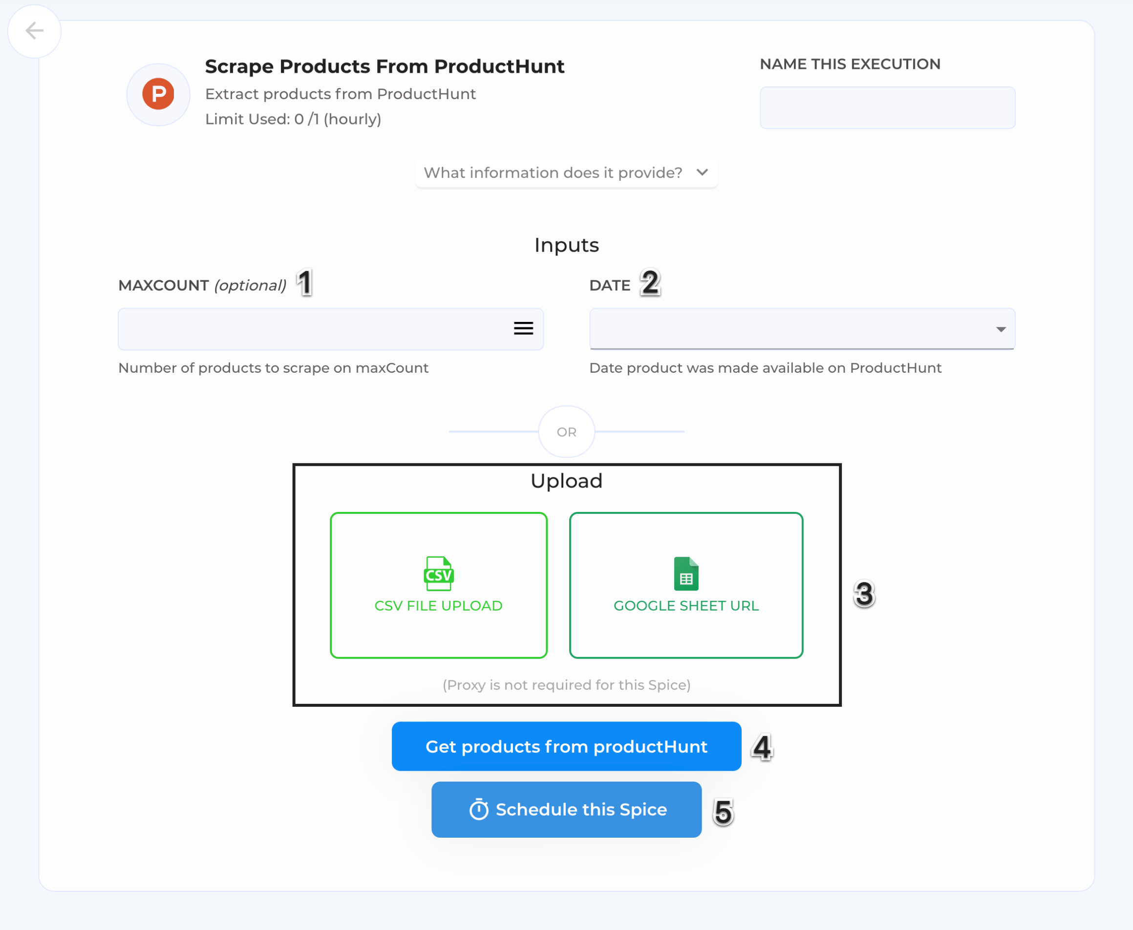 Get the products from producthunt